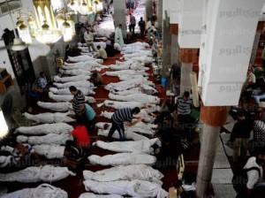 عدد جثث الضحايا داخل مسجد رابعة