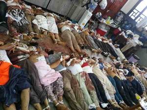 جثث المعتصمين داخل جامع رابعة